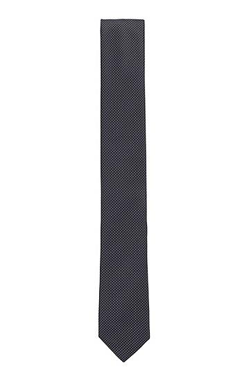 经认证再生面料图案装饰领带,  002_黑色