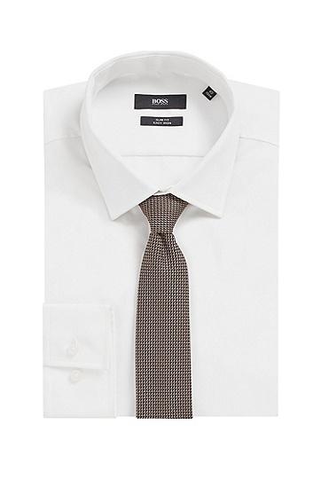 经认证再生面料图案装饰领带,  279_浅米色