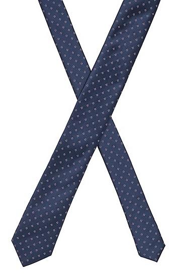 经认证再生面料图案装饰领带,  622_亮红色