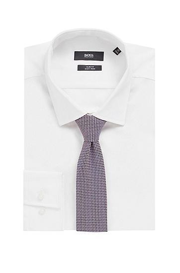 经认证再生面料图案装饰领带,  690_淡粉色