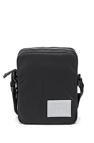 反光徽标饰片尼龙记者包,  001_黑色
