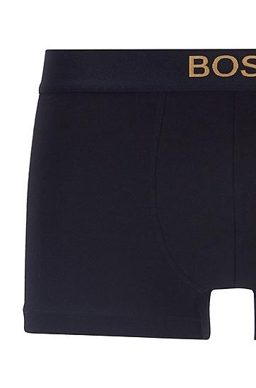 金属感徽标装饰弹力面料内裤礼盒装,  001_黑色