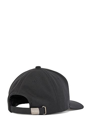 平纹针织面料鸭舌帽,  001_黑色