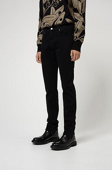 男士黑色修身裤子,  002_黑色