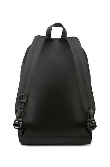 反光细节尼龙斜纹布背包,  001_黑色