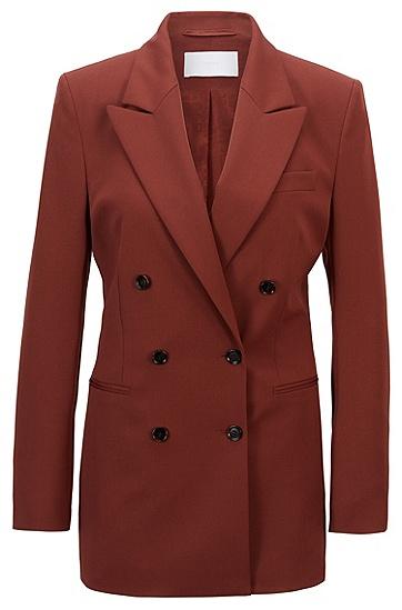 常规版型意大利弹力羊毛面料双排扣夹克,  224_铜棕色