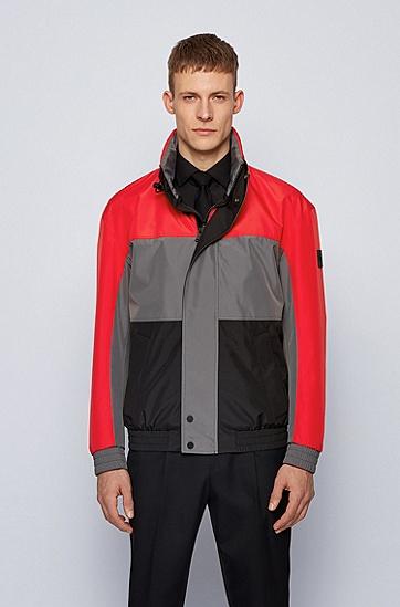 双层面料防水夹克,  628_亮红色