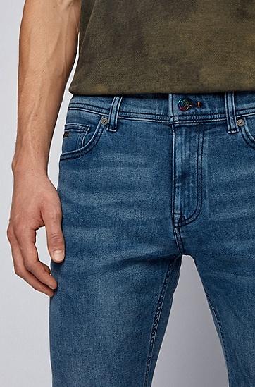 REFIBRA™ 弹力牛仔面料深蓝色修身牛仔裤,  418_海军蓝色