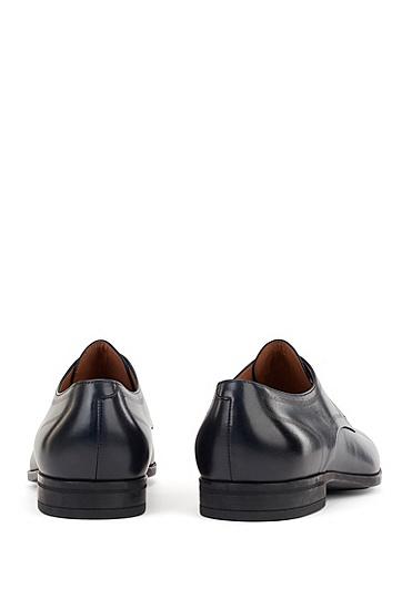小牛皮缝线德比鞋,  401_暗蓝色