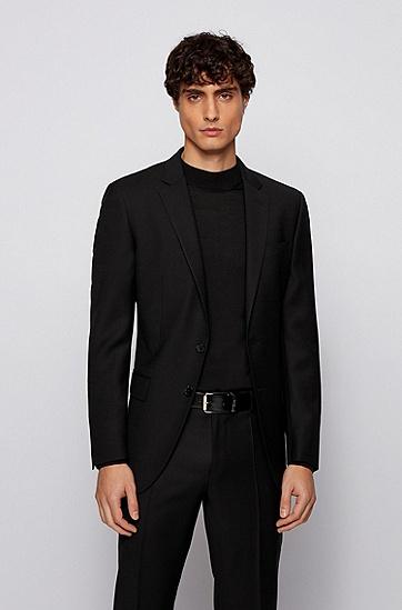 牛皮剖层革商务皮带,  005_黑色