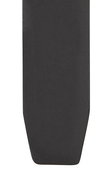 牌扣加针扣双面皮革腰带,  001_黑色