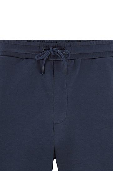 棉混纺短裤加拉链连帽衫运动套装,  410_海军蓝色
