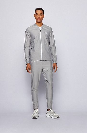 S.Café® 面料拉链开合运动衫夹克,  058_浅灰色