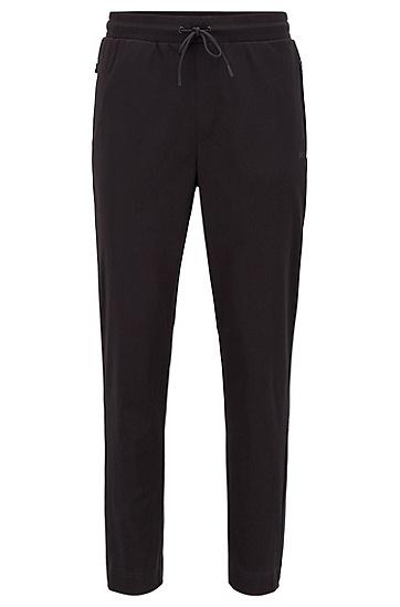 饰有新季数字印花的棉质混纺运动裤,  001_黑色