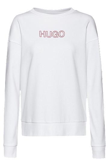 3D 徽标装饰法式毛圈布运动衫,  614_中红色