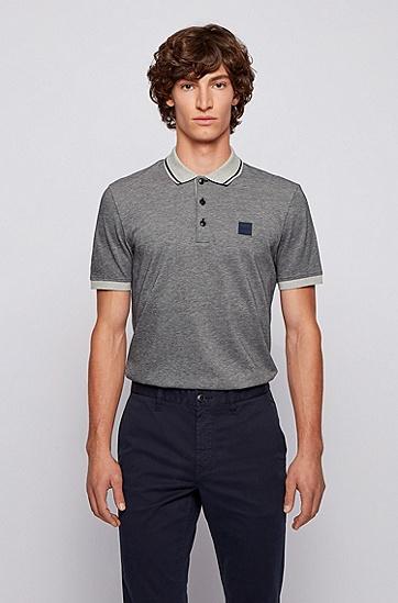 常规版型混色棉质 Polo 衫,  404_暗蓝色