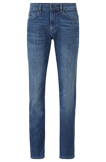中蓝色超弹修身牛仔裤,  420_中蓝色
