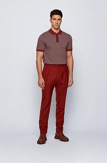 三色图案棉质 Polo 衫,  224_铜棕色