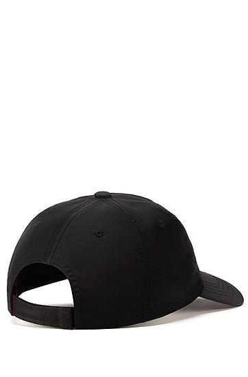 小熊图案镜像印刻斜纹布鸭舌帽,  001_黑色