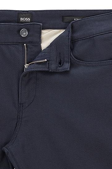 深蓝色弹力牛仔面料修身牛仔裤,  402_暗蓝色