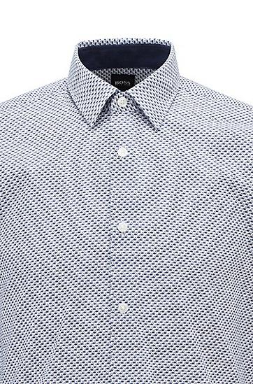 修身水洗休闲衬衫,  405_暗蓝色