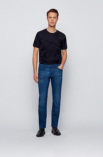 柔软意大利弹性牛仔布修身牛仔裤,  425_中蓝色