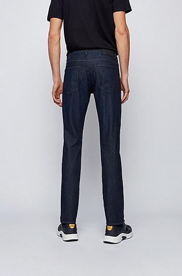 轻量深蓝色弹性修身牛仔裤,  413_海军蓝色