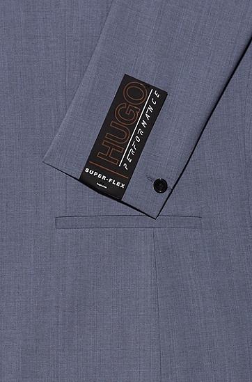 高性能面料超修身西装,  428_中蓝色