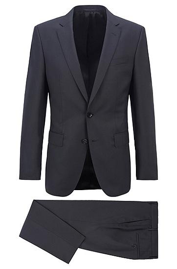 图案初剪羊毛哔叽面料修身西装,  001_黑色