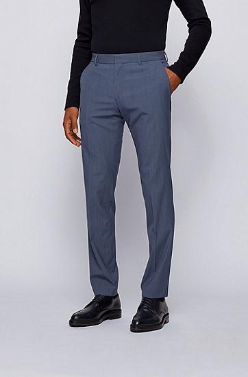 初剪羊毛混纺面料修身西装,  497_淡蓝色
