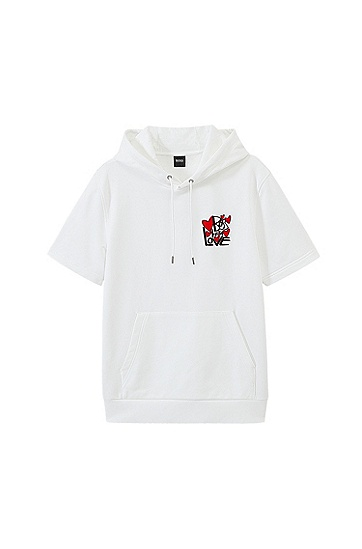蒙恩同款七夕限定胶囊系列短袖卫衣,  100_白色