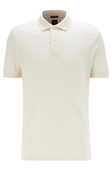 立体丝光棉常规版型 Polo 衫,  118_淡白色