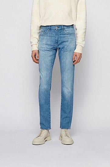 意大利蓝色羊绒质感修身牛仔裤,  440_水蓝色