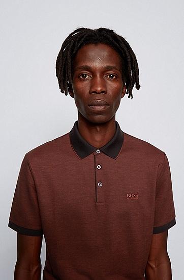 饰以撞色细节的皮马棉 Polo 衫,  224_铜棕色