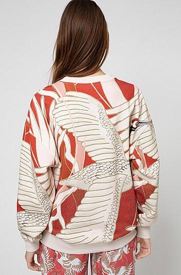 仙鹤印花 Recot2® 棉宽松版型运动衫,  962_多色