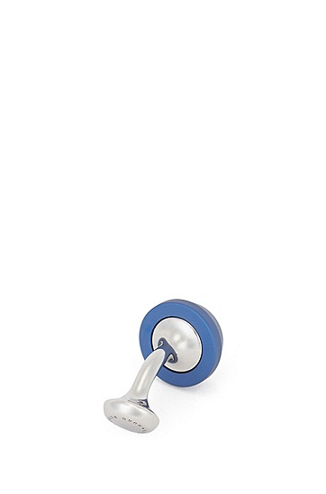 男士圆头商务袖扣,  410_海军蓝色