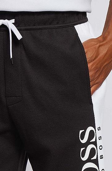 双面针织棉混纺家居短裤,  001_黑色