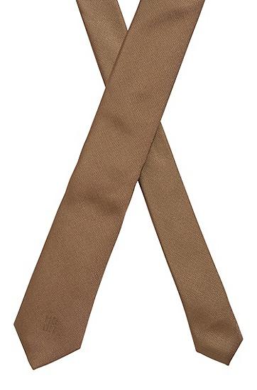 意大利制造真丝提花领带,  254_暗米色