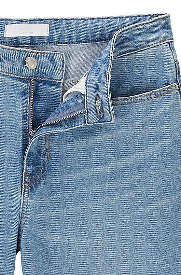 常规版复古蓝舒适弹性牛仔裤,  430_亮蓝色