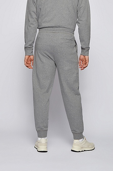 RUSSELL联名徽标图案装饰翻边运动裤,  034_Medium Grey