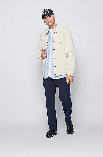 RUSSELL联名徽标图案装饰宽松版型中性T 恤,  100_White
