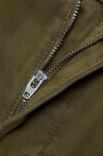 抽绳侧边袋休闲裤,  344_淡绿色