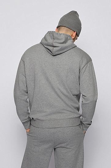 RUSSELL联名徽标图案装饰宽松版型中性连帽衫,  034_Medium Grey