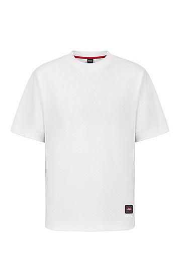 七夕胶囊系列微笑爱心徽标廓形T恤,  White