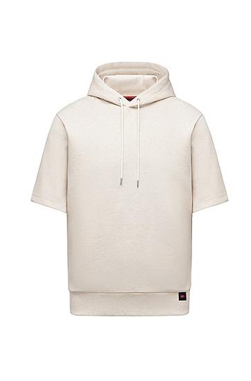 七夕胶囊系列微笑爱心图案短袖卫衣,  Open White