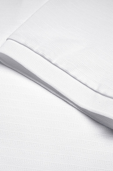 七夕胶囊系列爱心刺绣男女同款Polo衫,  White