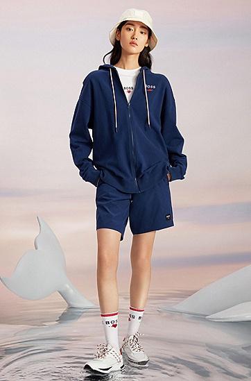 七夕胶囊系列爱心徽标男女同款沙滩短裤,  Dark Blue