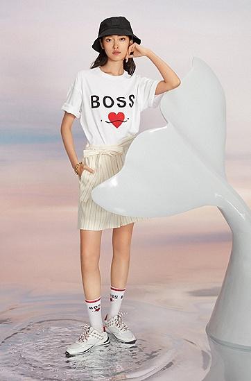 七夕胶囊系列微笑爱心T恤衫,  100_White