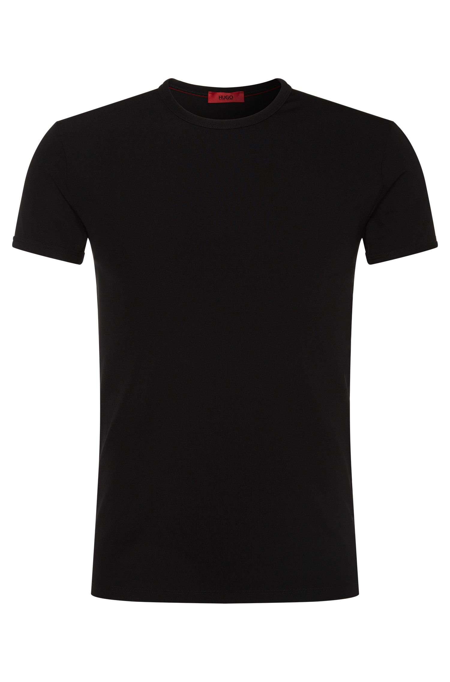 Unifarbenes T-Shirt aus elastischer Microfaser: 'RN'