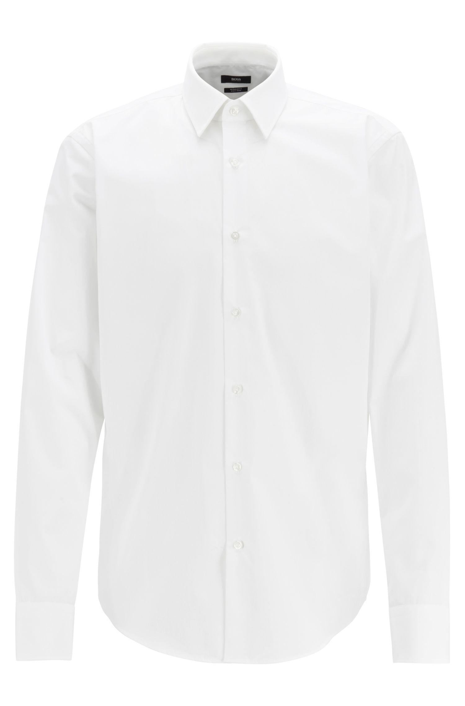 Regular-fit overhemd van katoenen popeline, Wit